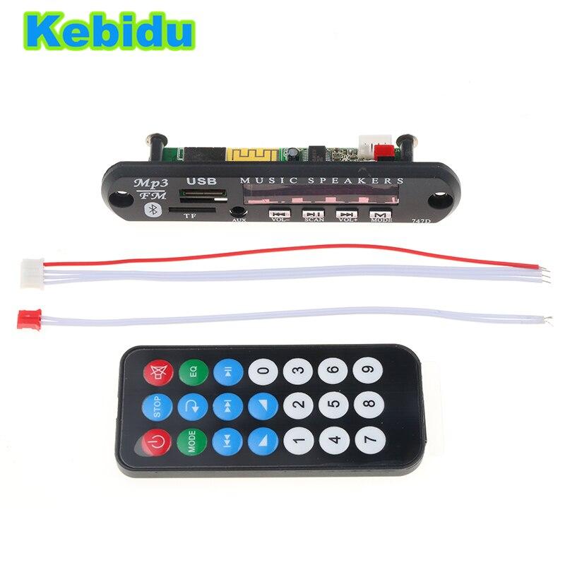 Kebidu USB TF fm радио AUX Беспроводной Bluetooth 5 В 12 В 24 В WMA MP3 аудио 35 мм MP3 плеер декодер доска модуль для автомобиля для iPhone купить на AliExpress