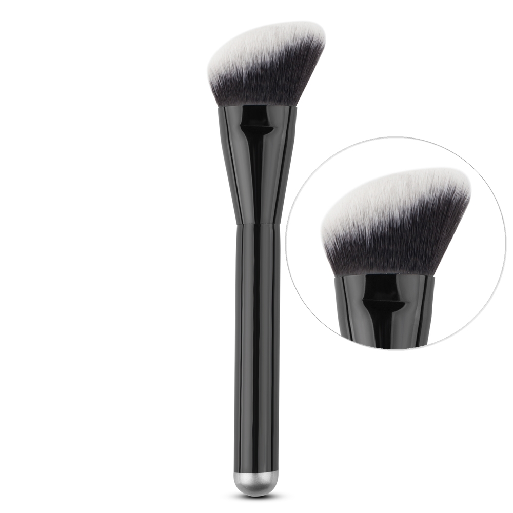 Makeup Round Angled Top Brush Foundation Powder Liquid Cheek Contour Blush Blusher Blending Brush Flawless Face Cosmetic Tool top quality foundation brush angled makeup brush