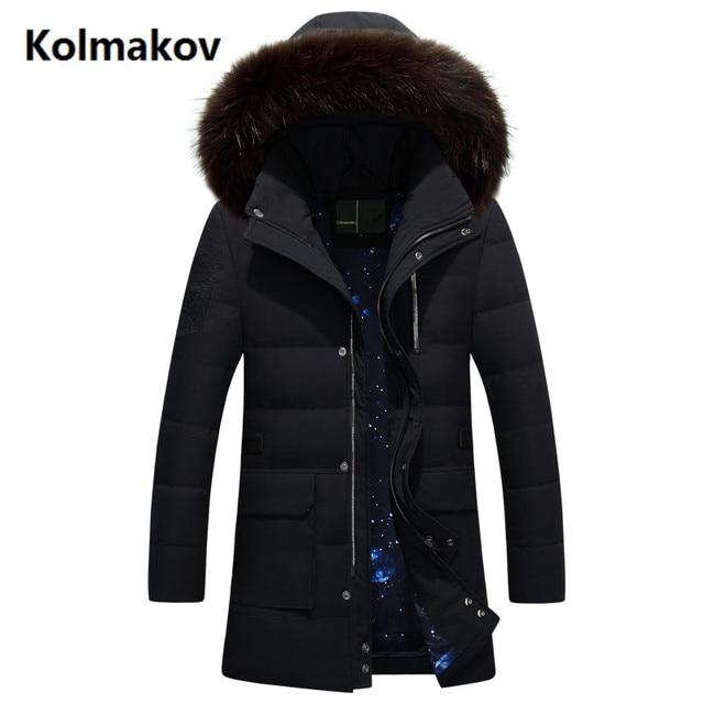 e13cccb4e96c 2017 winter Men s fashion thicken jackets white duck down down jacket Men s  Hat Detachable Down Coats trench coat men Parkas