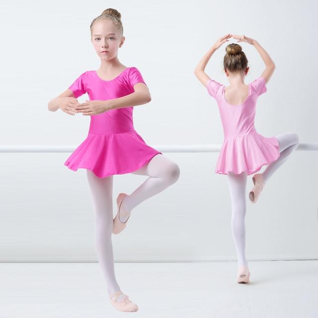 Блестящие балетное трико из спандекса платье камзол форма для гимнастики для девочек Купальник для балета, танцев с юбкой