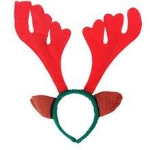 Christmas antlers head hoop headdress Head hoop Women Girls enfeites de natal adornos navidad craft supplies hanging ornaments