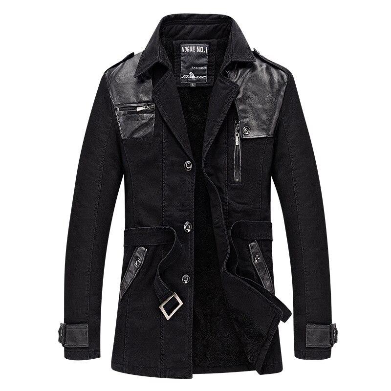 6c5edce8dfcb Autumn hot men s long plus cotton plus velvet trench coat