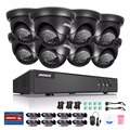 ANNKE Complete 8CH 1080N Surveillance DVR and (8) HD 720P Outdoor Fixed Dome Cameras IP66 Weatherproof, Super Day/Night Vision
