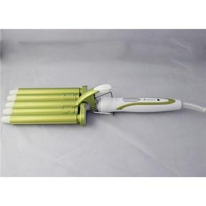 Image 2 - Hair Rooler Perm Splint Ceramic Hair Curler 5 Barrels Big Wave Hair Curling Iron Hair Waver Curlers Styling Tools