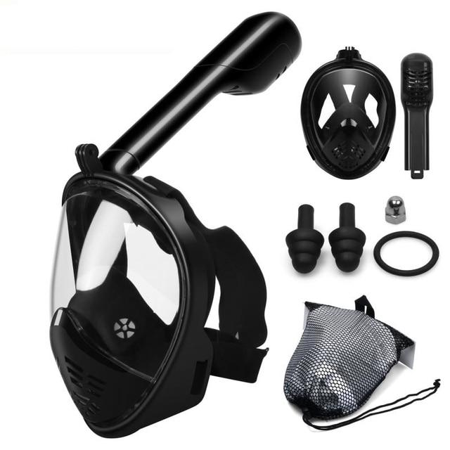 Scuba Diving Mask Full Face Snorkeling Mask Underwater Anti Fog Snorkeling Diving Mask For Swimming Spearfishing Dive Men 4