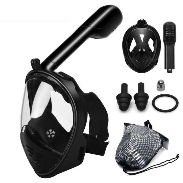 Snorkeling Mask Full Face Design Foldable 180 Panoramic Dive Scuba Mask