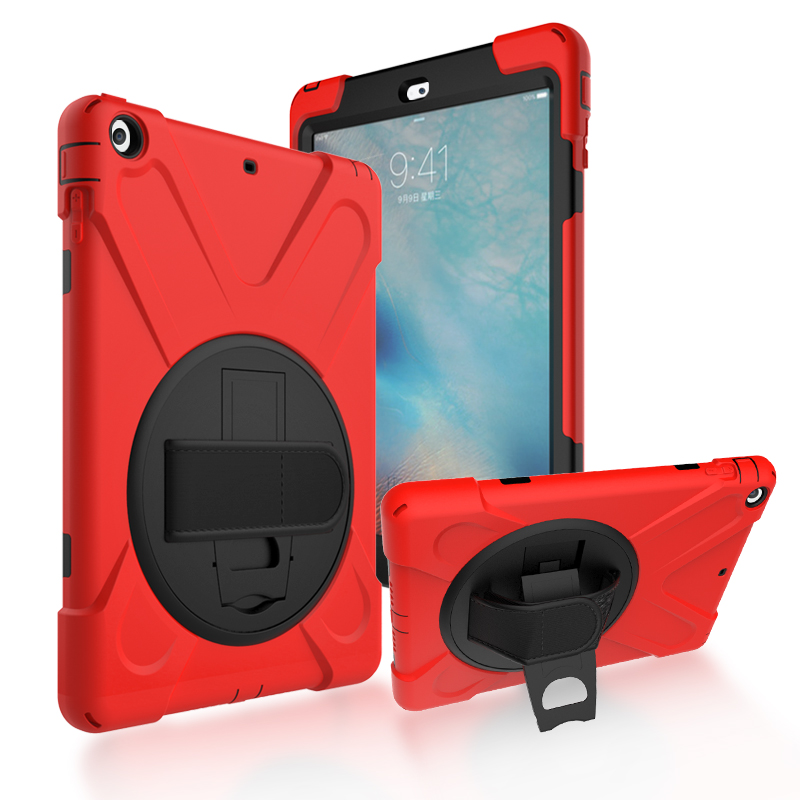 For iPad air / 5 Shockproof Kids Protector Case For iPad5 Heavy Duty Silicone Hard Cover kickstand design Hand bracel + Gift цена