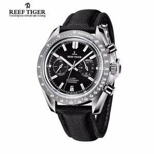 Image 2 - Reef Tiger/RT Reloj de marca de diseñador para hombre, con cronógrafo, fecha, superluminoso, correa de nailon, RGA3033, novedad de 2020