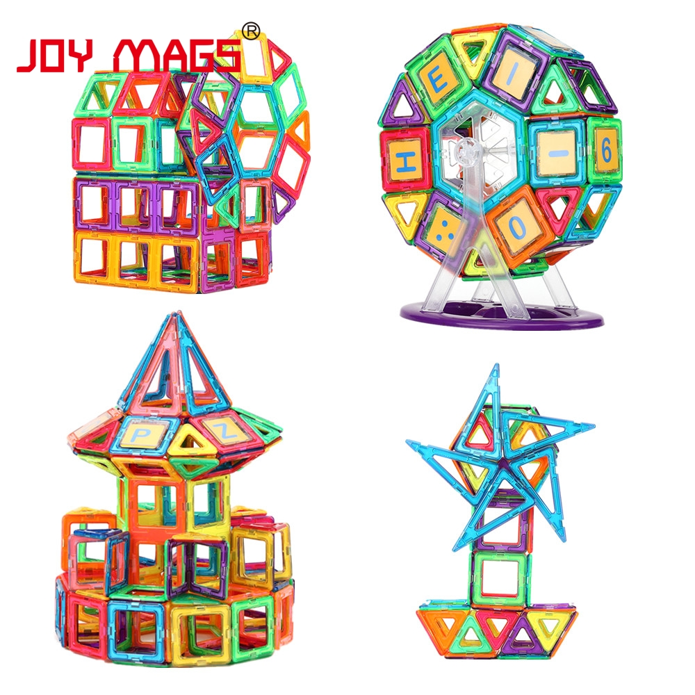 JOY MAGS Magneettisuunnittelulohko 89/102/149 kpl Rakennemallit Toy - Rakentaminen lelut - Valokuva 4