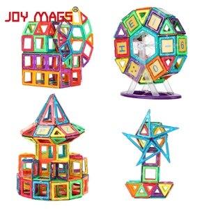 Image 4 - JOY MAGS układanki magnetyczne blok 89/102/149 pcs modele budowlane zabawki Enlighten zestawy plastikowych modeli edukacyjne zabawki dla małych dzieci