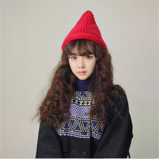 # 2016 Explosion models new Autumn And Winter Candy-colored pointy hatwool knit hat fashion Lovers men and women warm head cap