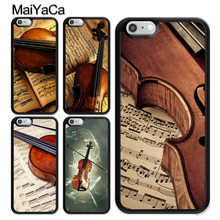 MaiYaCa Violin and Musical Note Soft TPU Skin Mobile Phone Case Funda For iPhone 6 6S 7 8 Plus X 5 5S SE Back Cover Shell