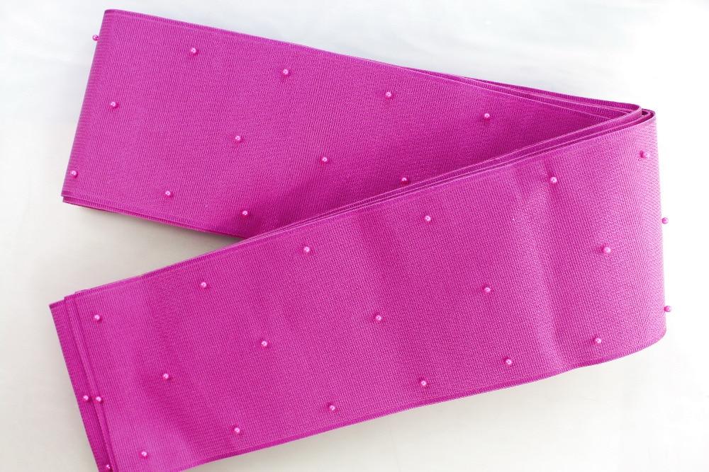 African headtie,Head Gear,Sego Gele & Ipele, African Aso Oke Headtie with Beads Solid and Plain  Fushia Pink color AsoOke 01