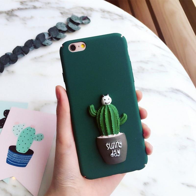 For iPhone 7 Plus Korean Cute Replica 3D Cactus Phone