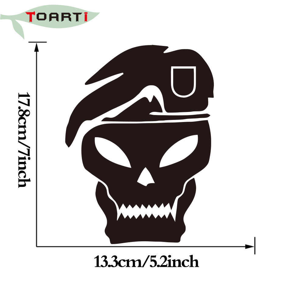 13 317 8 cm call duty skull vinyl car sticker funny car window bumper laptop art