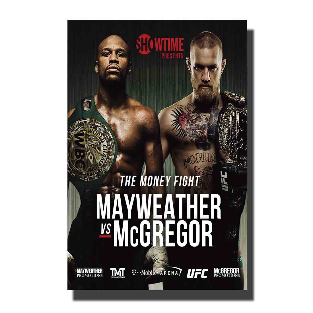 Floyd Mayweather vs Conor McGregor Art Print-Póster