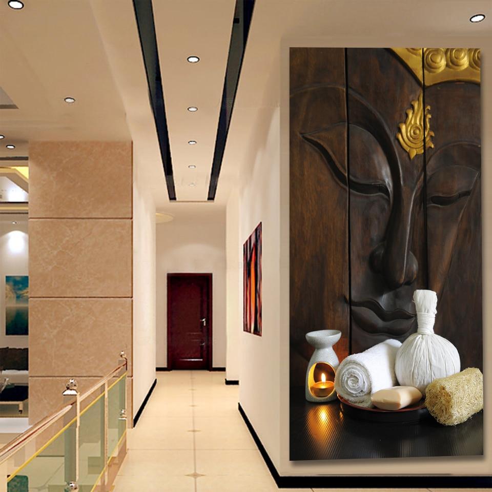 Antik kətan divar bəzəyi, buddha rəsm afişası, tətil hədiyyə - Ev dekoru - Fotoqrafiya 2