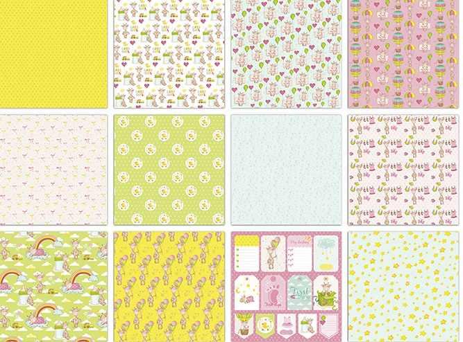 DIY Прекрасный жираф стиль Скрапбукинг бумажный пакет из 24 листов Бумага для рукоделия ремесло фоновая накладка
