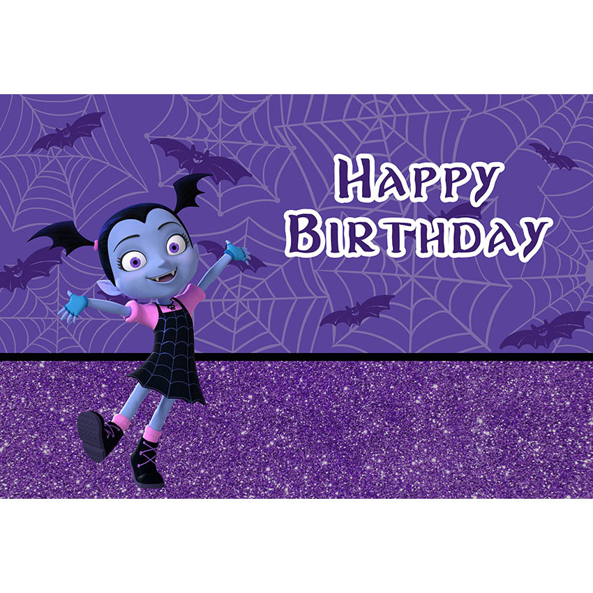 Vinyl Photography Background Cartoon Vampirina Backdrop Purple Glitter  Girls Birthday Party Backgrounds Dessert Table Photocall-in Background from  Consumer ... 307e9a4f46fe