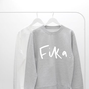 Sugarbaby Fika Motivational Sweatshirt Long Sleeve Jumper Crew Neck Fashion Sweatshirt Tumblr Clothing High quality Tops crew neck crop sweatshirt
