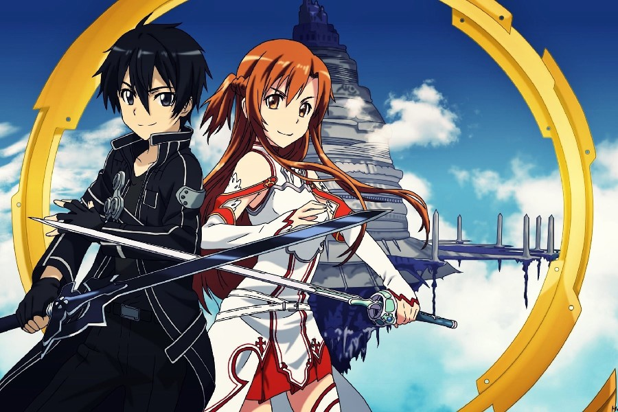 ჱDIY marco espada arte en línea Japón Hot Comics anime cartel ...
