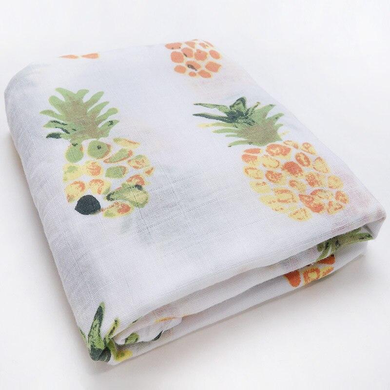 Новинка; хлопковые Супермягкие подгузники из муслина; детское одеяло; Банное полотенце; пеленка; аксессуары для детской кровати; детское одеяло для новорожденных - Цвет: Pineapple
