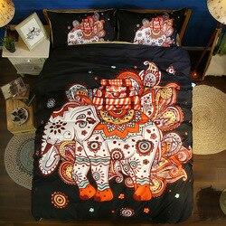 3D kolorowe słoń powłoczki dzieci dorosłych poszewki para podwójne pościel kołdry na łóżko poszewki podwójne  pełne Queen King