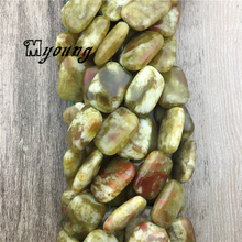 Rectangle Green Dragon Blood Jaspers Beads, Natural Gem Stone, High Quality Jewelry Making MY1573