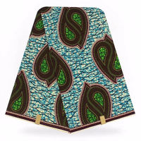 New Top Selling 2018 Nigerian hollandis wax fabrics for sewing clothes nigeria ankara fabric cotton super wax 6 yards/piece