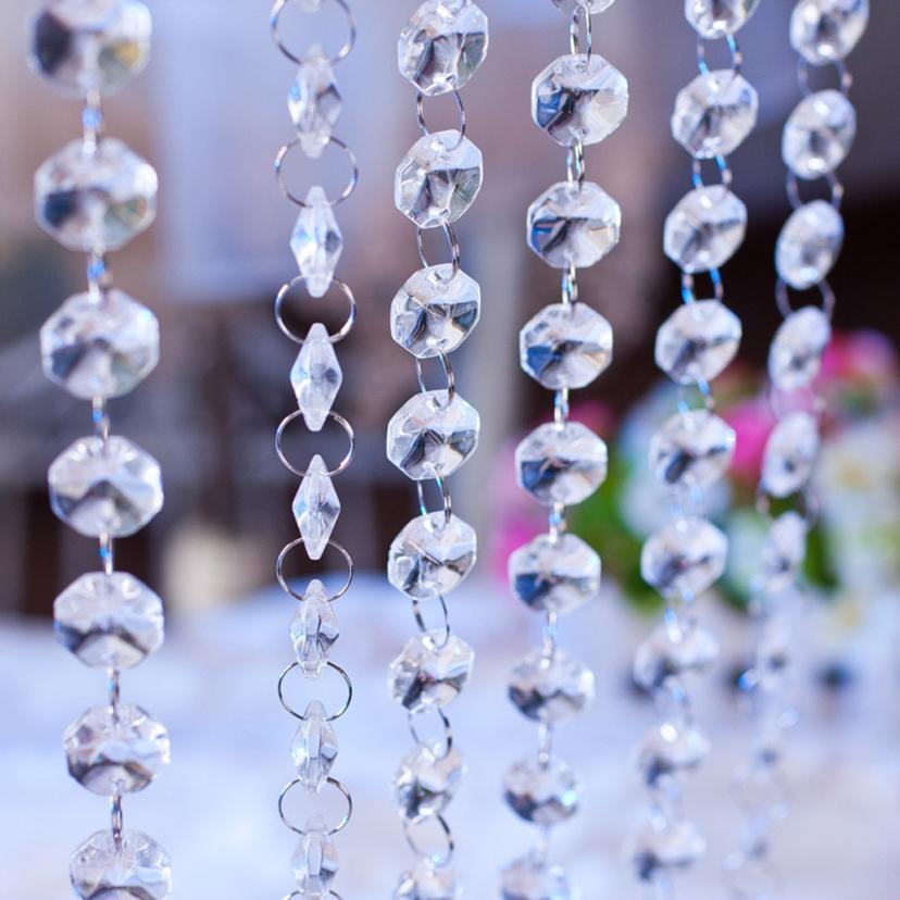 1 M DIY Wedding Decor Diamond Curtain Acrylic Crystal Beaded Curtain L510