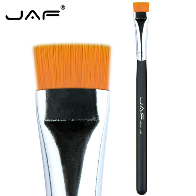 JAF 1 PCS Eye Makeup Brush Flat Eyeliner Eyebrow Blending Beauty Make Up Brush Soft Nylon Hair 3 Colors for Choose 07SHYE