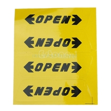 Convenient 4pcs Car Door OPEN Warning Safety Driving Decals Reflective Stickers#T518#