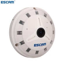 ESCAM QP130 360 degrees Fisheye Panoramic IP Camera 1.3MP HD Real Time with TF card slot Perfect Software for PC and Cellphone