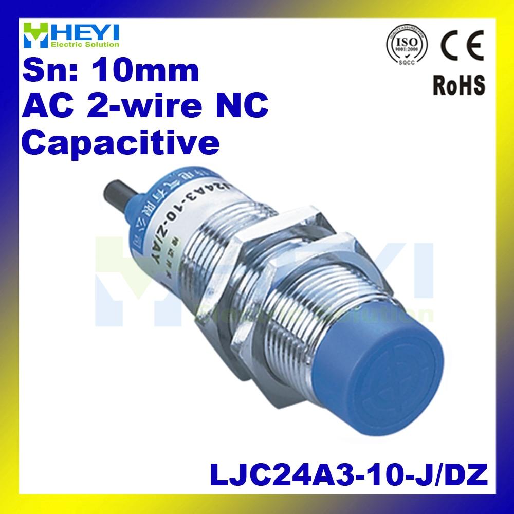 hight resolution of ac capacitive proximity sensor ljc24a3 t j dz 24 68mm 90 250vac 2 wire nc