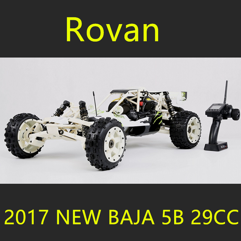 2017 New Rovan Baja 5B 290c 29cc Gasoline RC car New Upgrade Large Wasteland Studded Tires High-strength Nylon Frame Symmetrical 2017 new rovan 1 5 scale gasoline rc car baja 5b high strength nylon frame 29cc engine warbro668 symmetrical steering