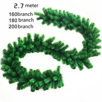 AJP 1Piece 2 7m Artificial Green Wreaths Christmas Pine Garland Haning Ornaments For Xmas Fireplace Tree