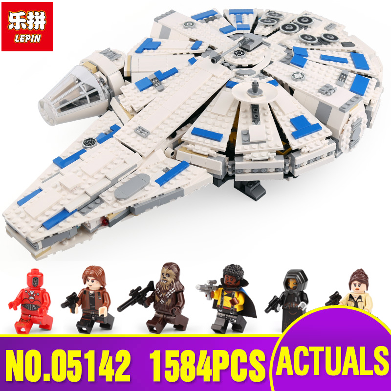 DHL LEPIN Star Series 05142 Wars Building Blocks Force Awakens Millennium Legoing 75212 Toys Falcon Model Kid Toy Christmas Gift dhl lepin 05142 star building blocks force toy awakens millennium kids toys falcon model legoings 75212 birthday christmas gifts
