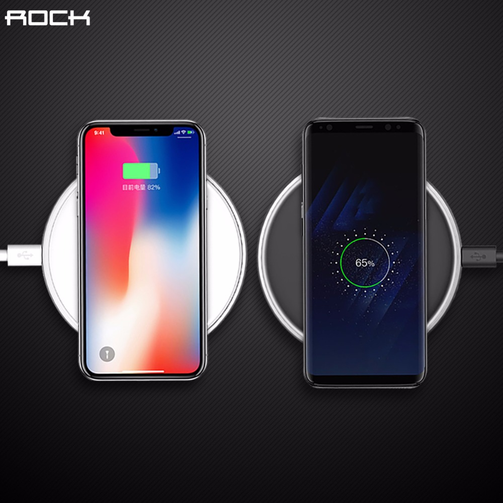 ROCK Qi Fast Wireless Charger for iPhone X 8 plus,Wireless Charger for Samsung Galaxy Note 8 S8 S7 edge S6 Qi-Enabled DevicesROCK Qi Fast Wireless Charger for iPhone X 8 plus,Wireless Charger for Samsung Galaxy Note 8 S8 S7 edge S6 Qi-Enabled Devices