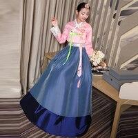 New Arrive 6 Color Korean Traditional Dress Bride Korean Folk Dance Costume Luxury Asia & Pacific Islands Clothing for Women