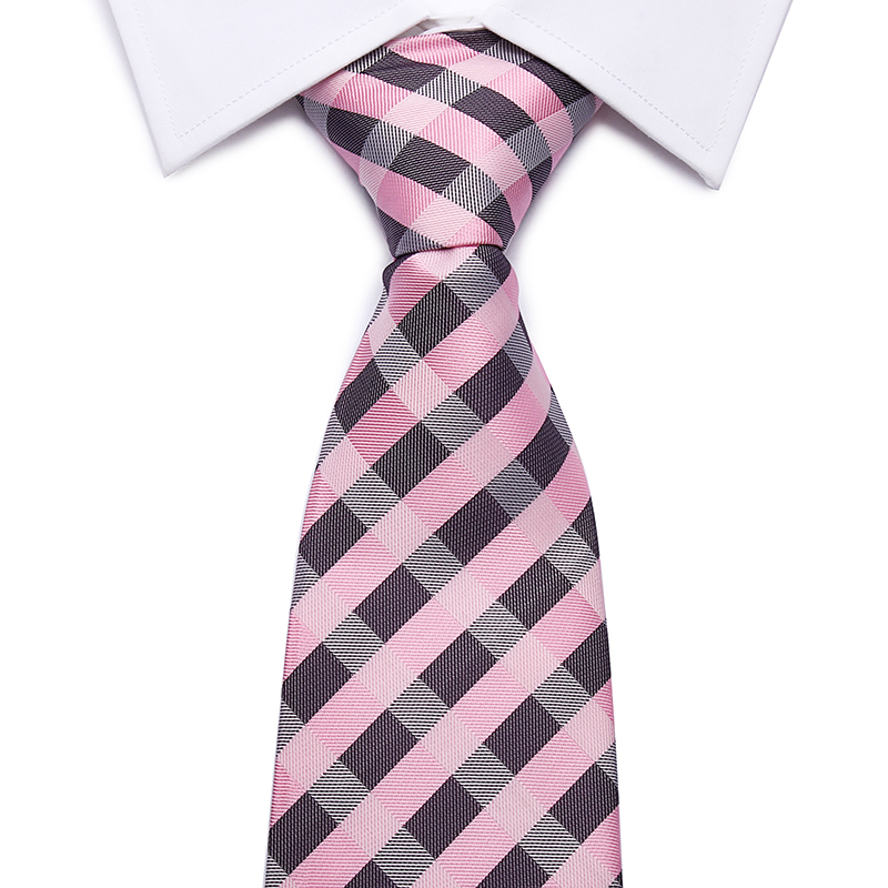 2014 Neck Ties 8 Cm Gentlemen's Fashion Casual Gravata Masculina Lotes Classic Tie Pink Plaid Color Plain Silk Men's Necktie