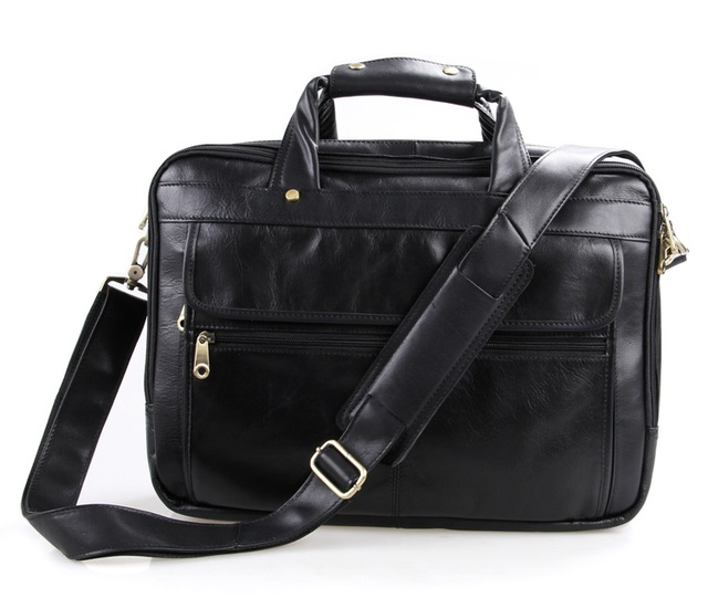 Genuine Leather Men Bag Vintage Men's Briefcase Shoulder Bussiness Laptop Bag Men Messenger Mags men's travel bags #MD-J7146