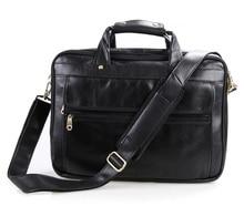 Genuine Leather Men Bag Vintage Men's Briefcase Shoulder Bussiness Laptop Bag Men Messenger Mags men's travel bags #MD-J7146