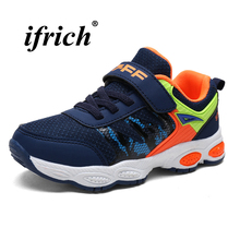 Boys Running Shoes Black Dark Blue Kids Boys Brand Trainers Spring Autumn School Shoes for Kids Breathable Lightweight Sneakers цена