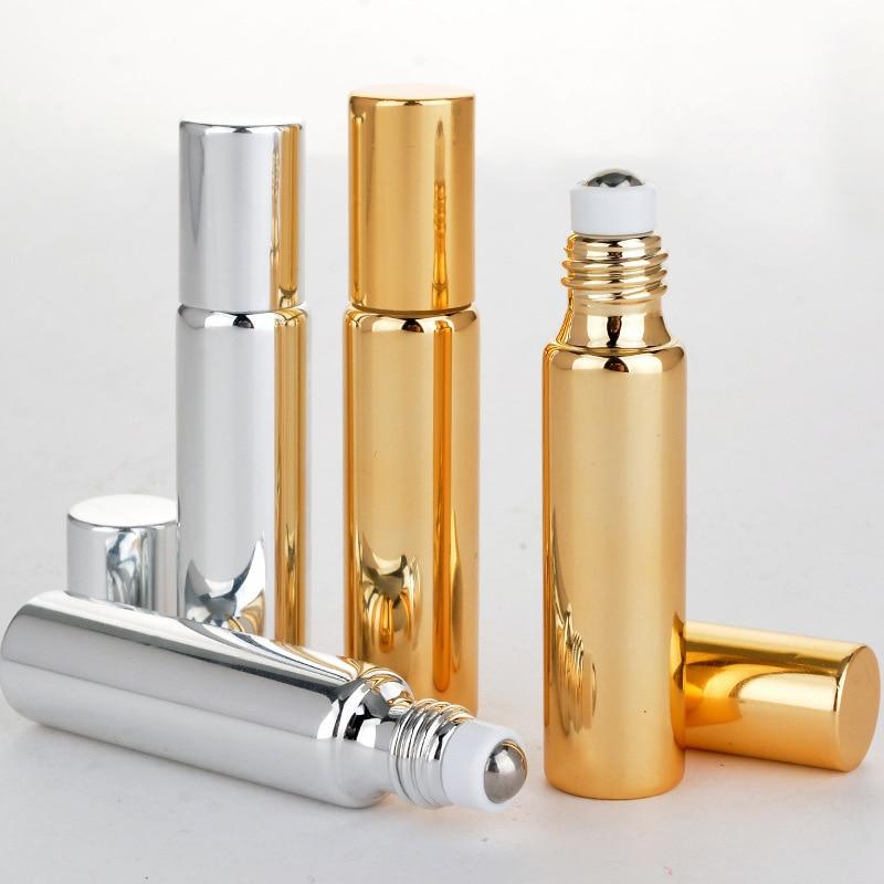 Roller Ball Refillable Smeared  Essential Oil Massage UV Travel Empty Mini 5ml/10ml Separate Bottles Glass Bottle Perfume