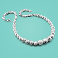 Female 925 Sterling Silver Necklace Bohemian Style Beads Necklace Wild Girl Collarbone Necklace Popular Charm Jewelry