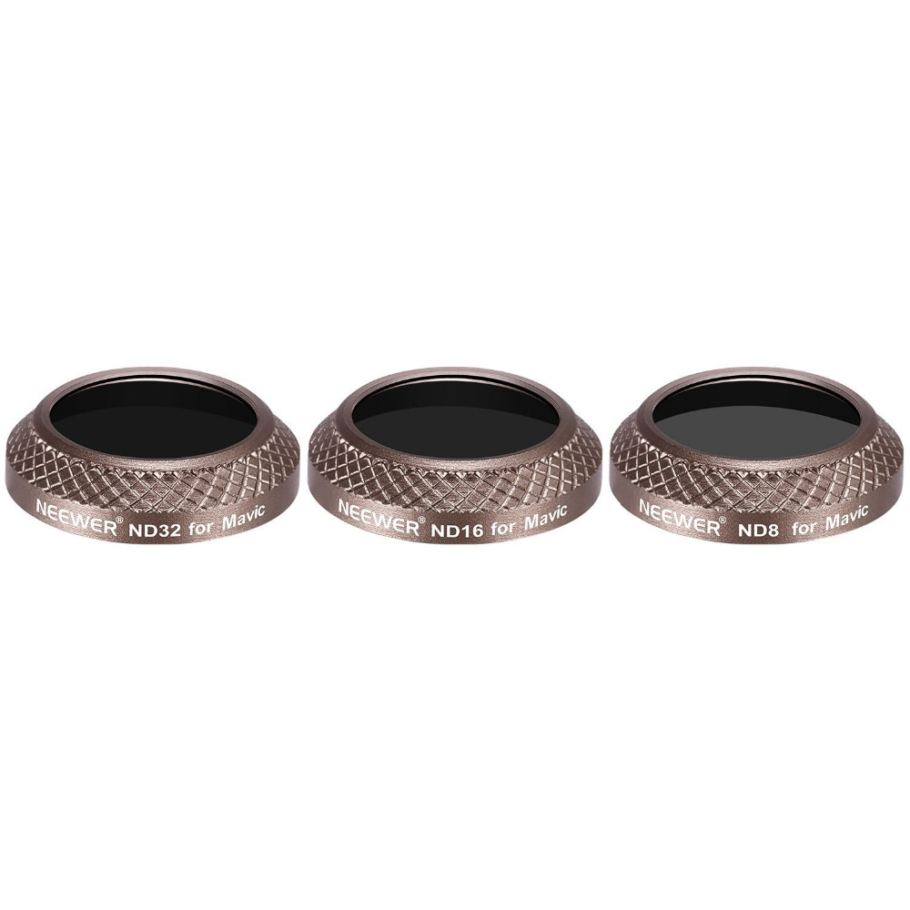 Hero 6 Neewer Multi-coated Lens Filter Kit for GoPro Hero 7 ND16 Hero 5 Includes ND8 ND32 Filters with 3 Lens Caps; Made of Aluminum Alloy Frame and HD Optical Glass