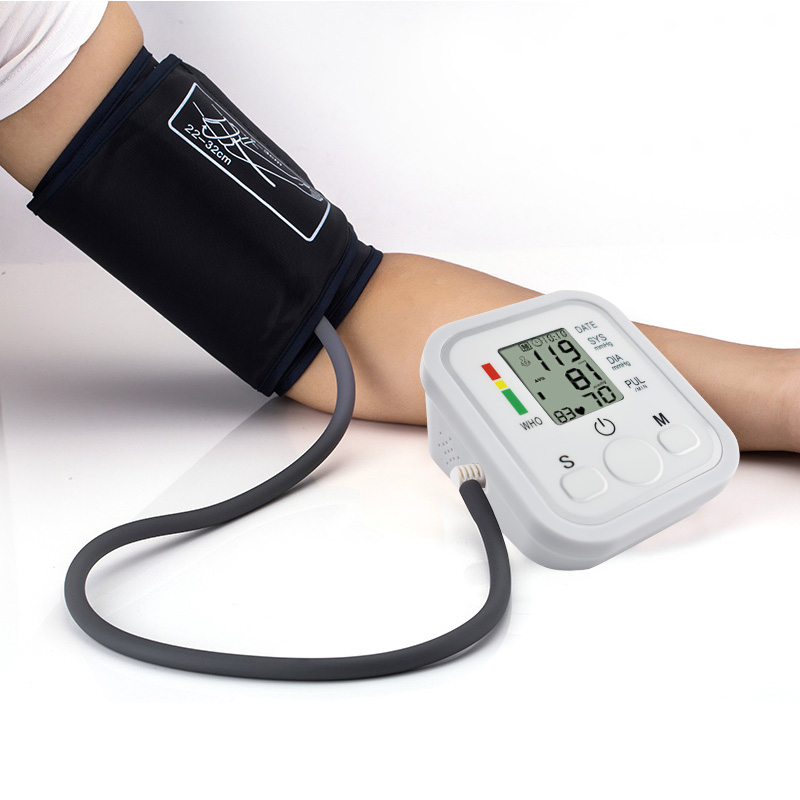 Full automatic upper arm blood pressure Monitors bp digital electronic sphygmomanometer tonometer Pulse heart rate monitor