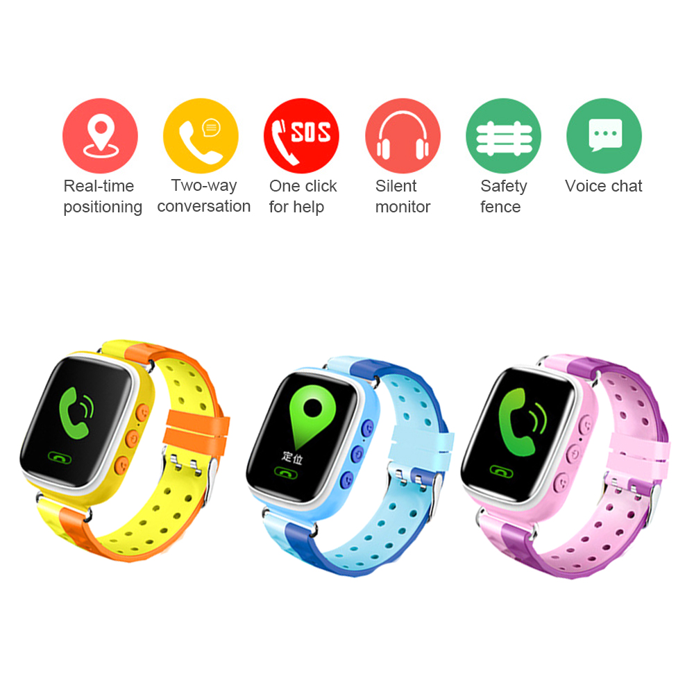 Q80 children GPS Positioning Fashion Call smart Watch child alarm wristband Color touch Screen baby SOS men Smart wristWatch