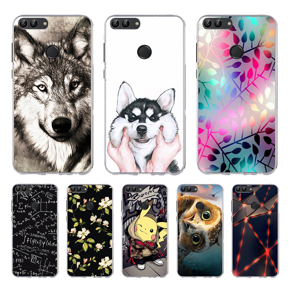 Huawei P Smart 2018 Case Cover Phone Back FOR Funda Huawei P Smart Case Silicone Black Matte Soft TPU Case Huawei P Smart Coque in Fitted Cases from Cellphones Telecommunications