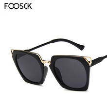 FOOSCK New Hot Vintage Oversized Square Sunglasses Women Luxury Brand Fashion Sun Glasses Female Oculos De Sol Gafas